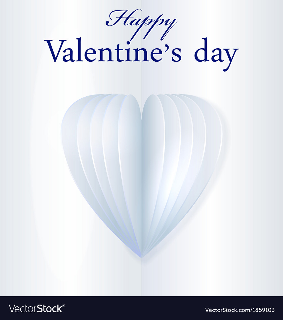 Blue paper valentines heart vector | Price: 1 Credit (USD $1)