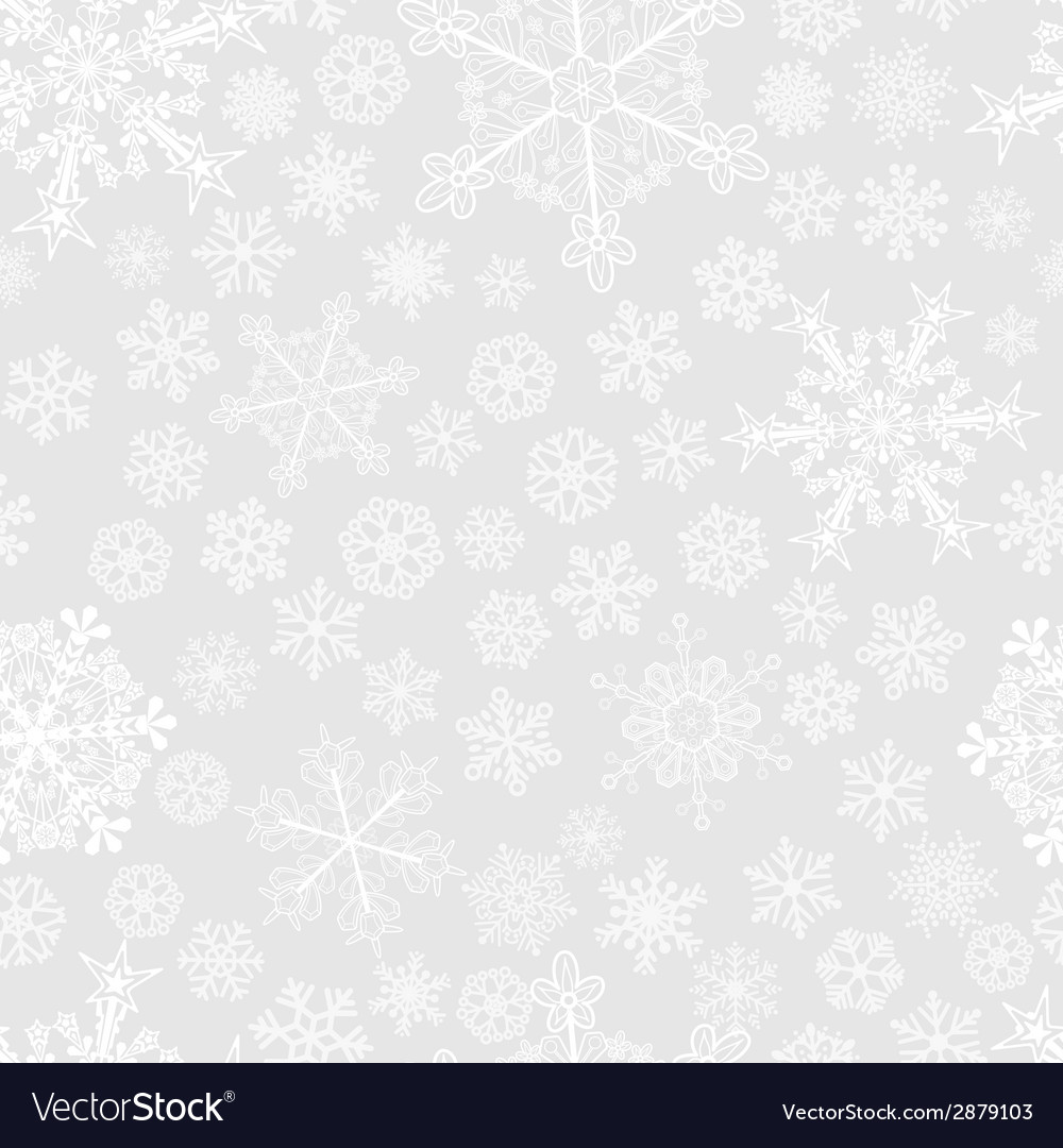 Christmas seamless pattern of snowflakes vector | Price: 1 Credit (USD $1)
