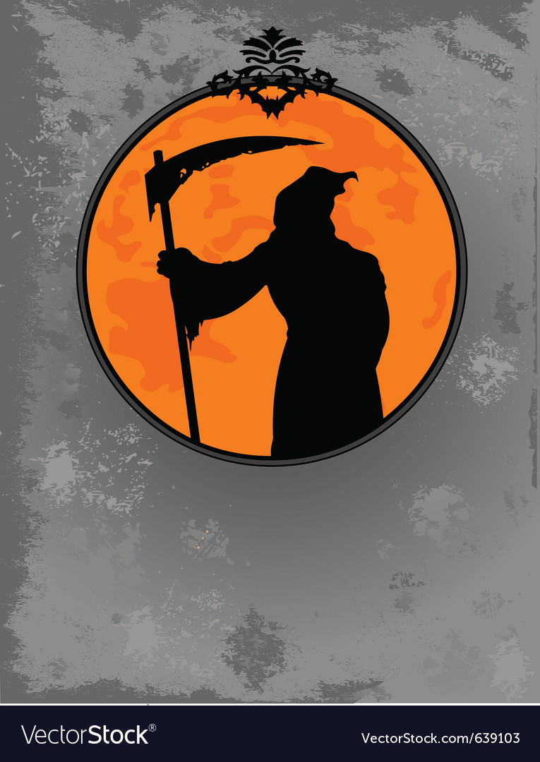 Halloween grim reaper silhouette vector   Price: 1 Credit (USD $1)