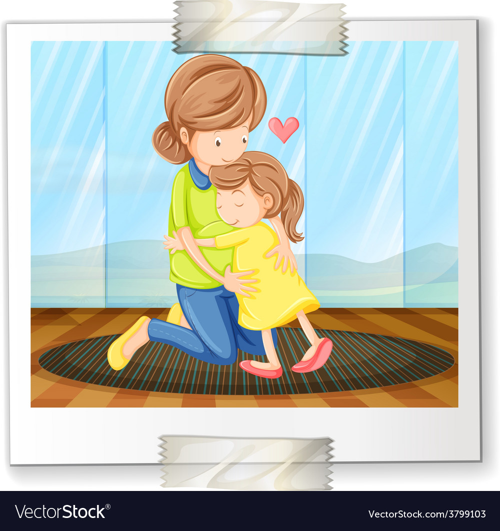Mother and daughter vector | Price: 1 Credit (USD $1)