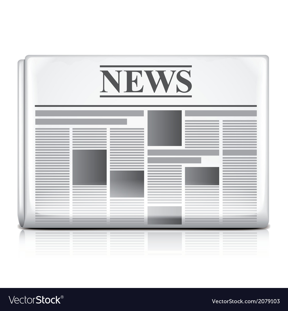 Object newspaper vector | Price: 1 Credit (USD $1)