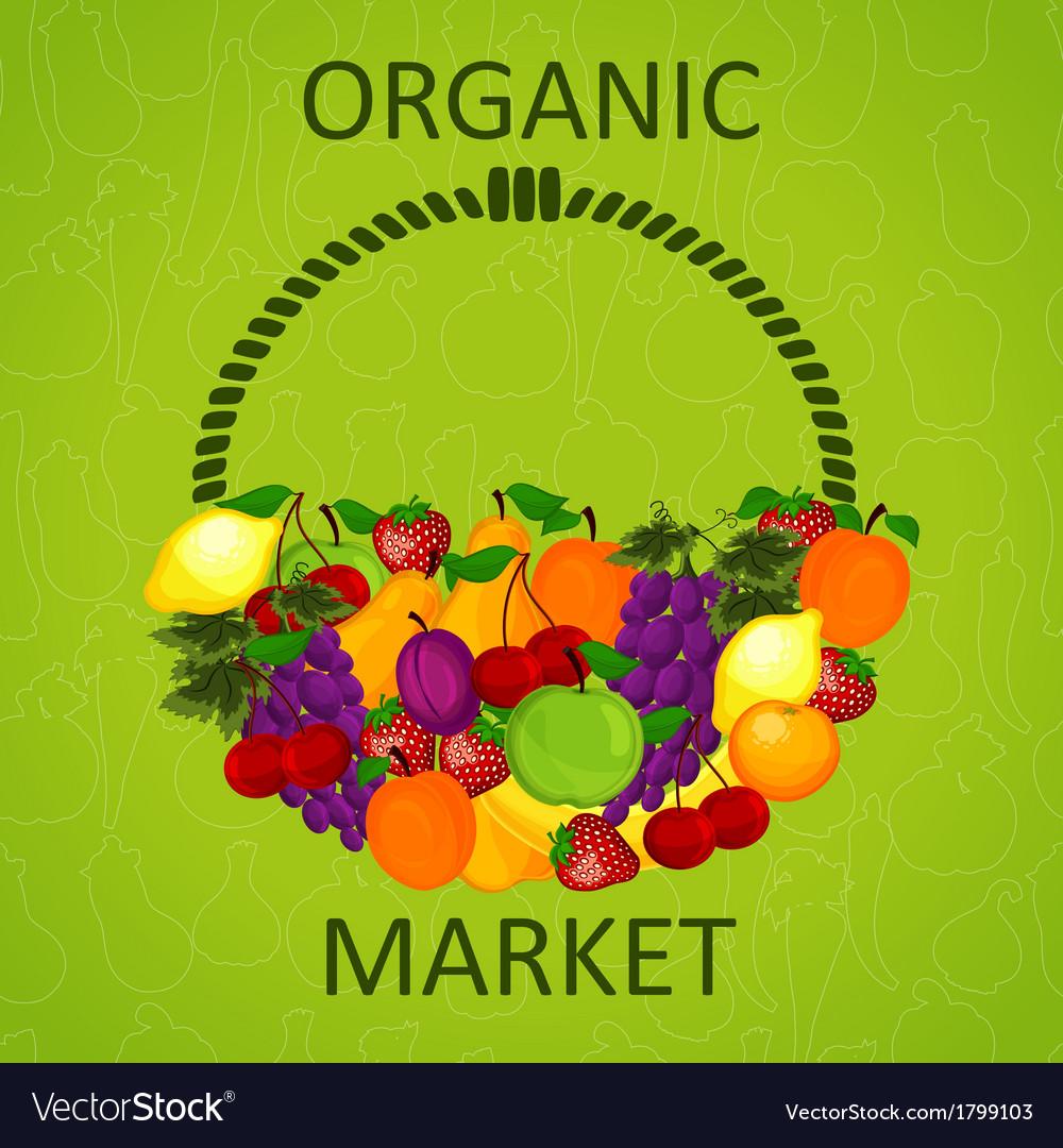 Organic market vector | Price: 1 Credit (USD $1)