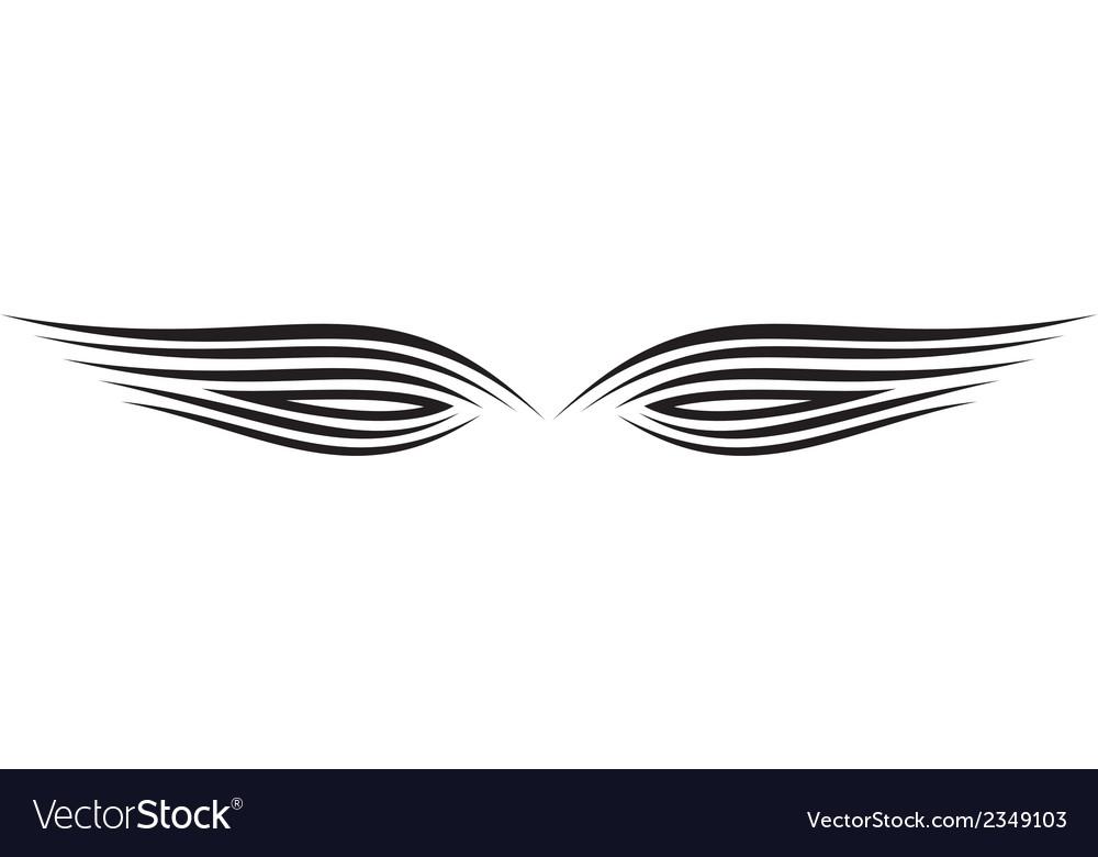 Ornament wing silhouette vector | Price: 1 Credit (USD $1)