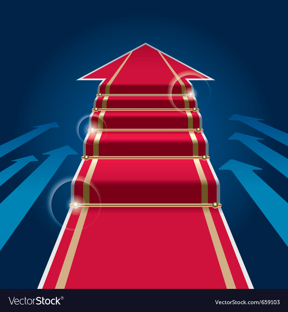 Red carpet arrow vector | Price: 1 Credit (USD $1)