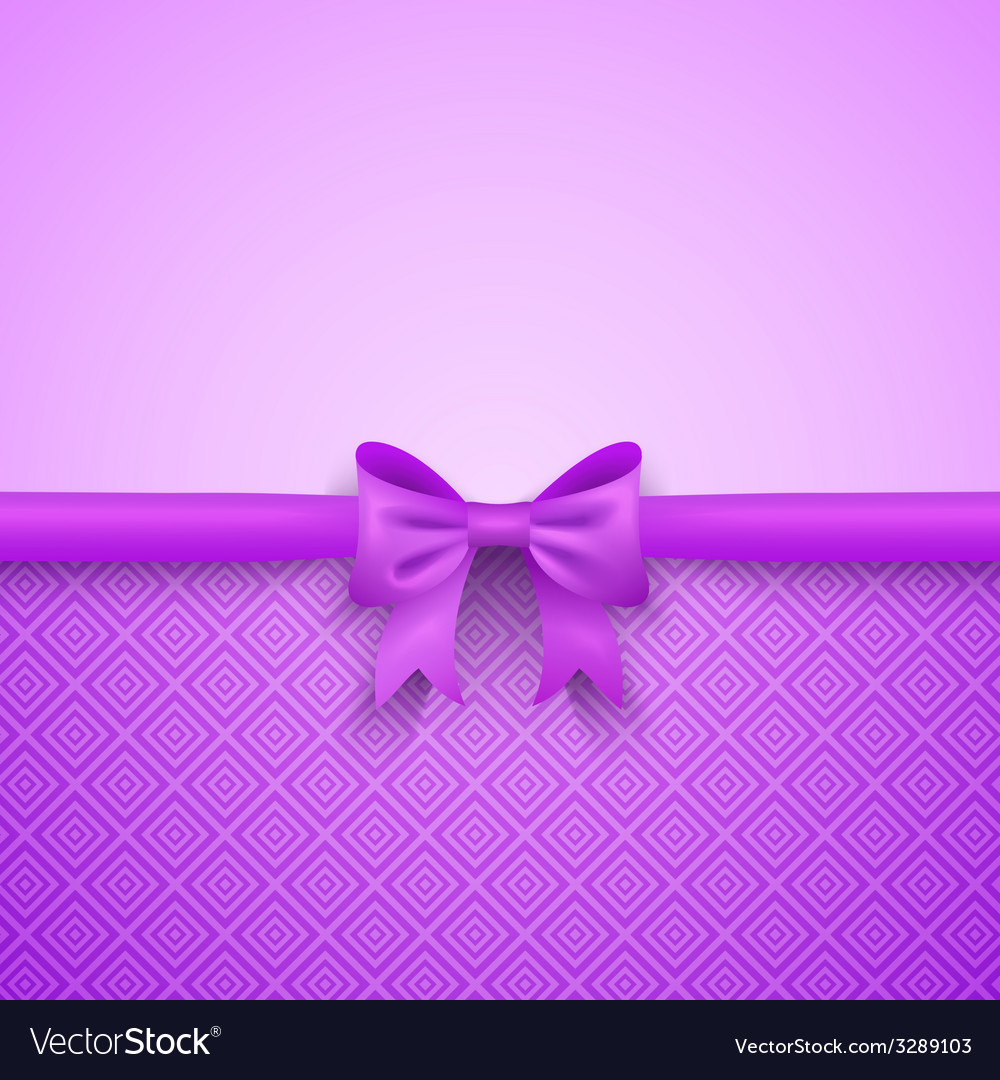 Romantic purple background with cute bow and vector | Price: 1 Credit (USD $1)