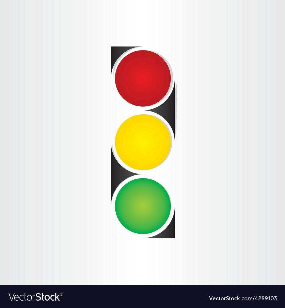 Semaphore abstract traffic sign symbol vector | Price: 1 Credit (USD $1)