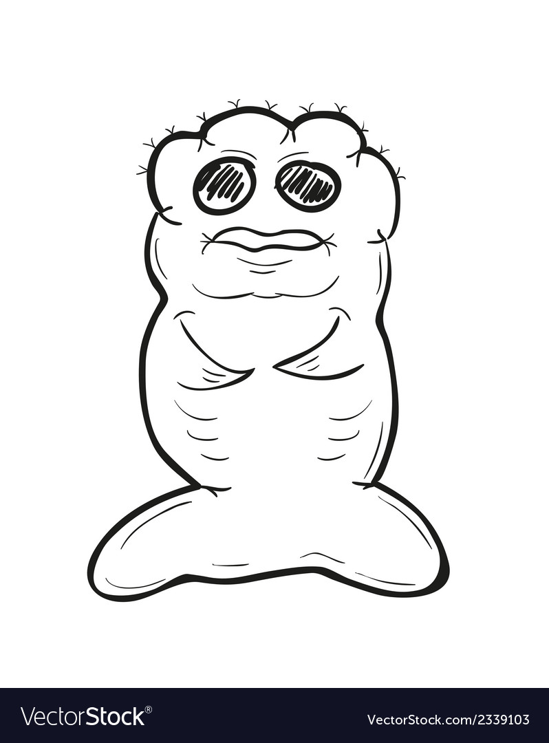 Sketch of the ugly fish creature vector | Price: 1 Credit (USD $1)