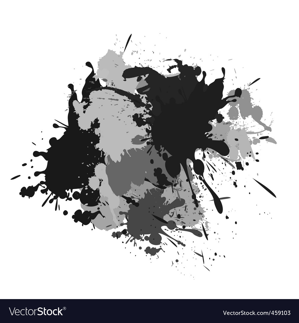 Splash black white and grey vector | Price: 1 Credit (USD $1)