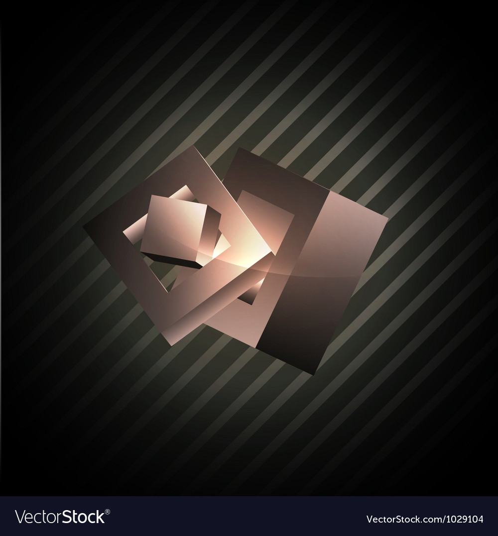 Abstract cube shapes vector
