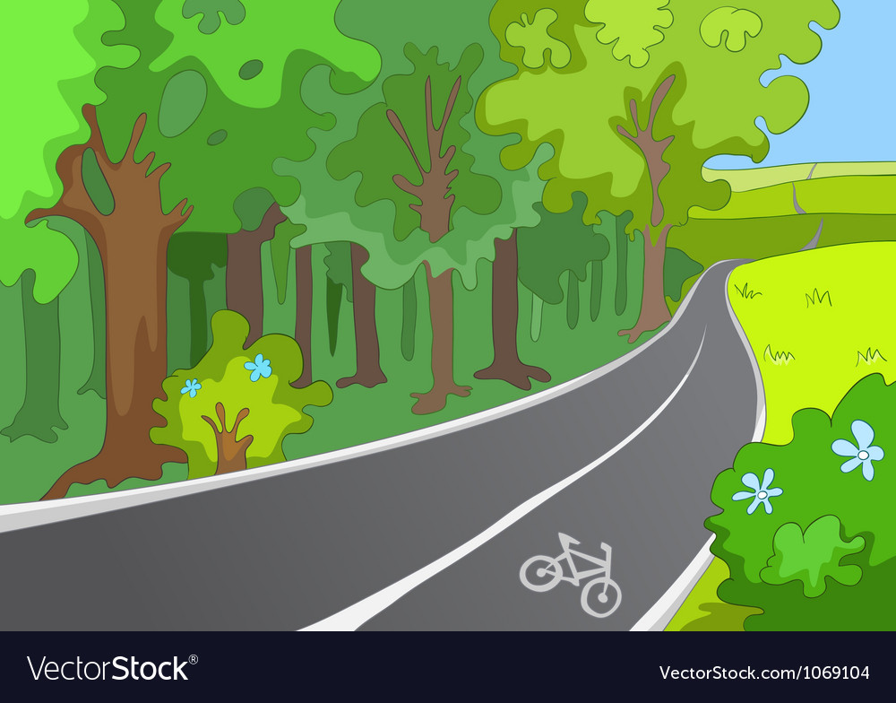 Bicycle path vector | Price: 1 Credit (USD $1)