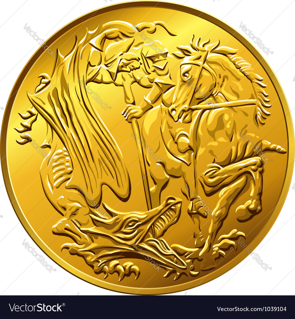 British money gold coin sovereign vector | Price: 1 Credit (USD $1)