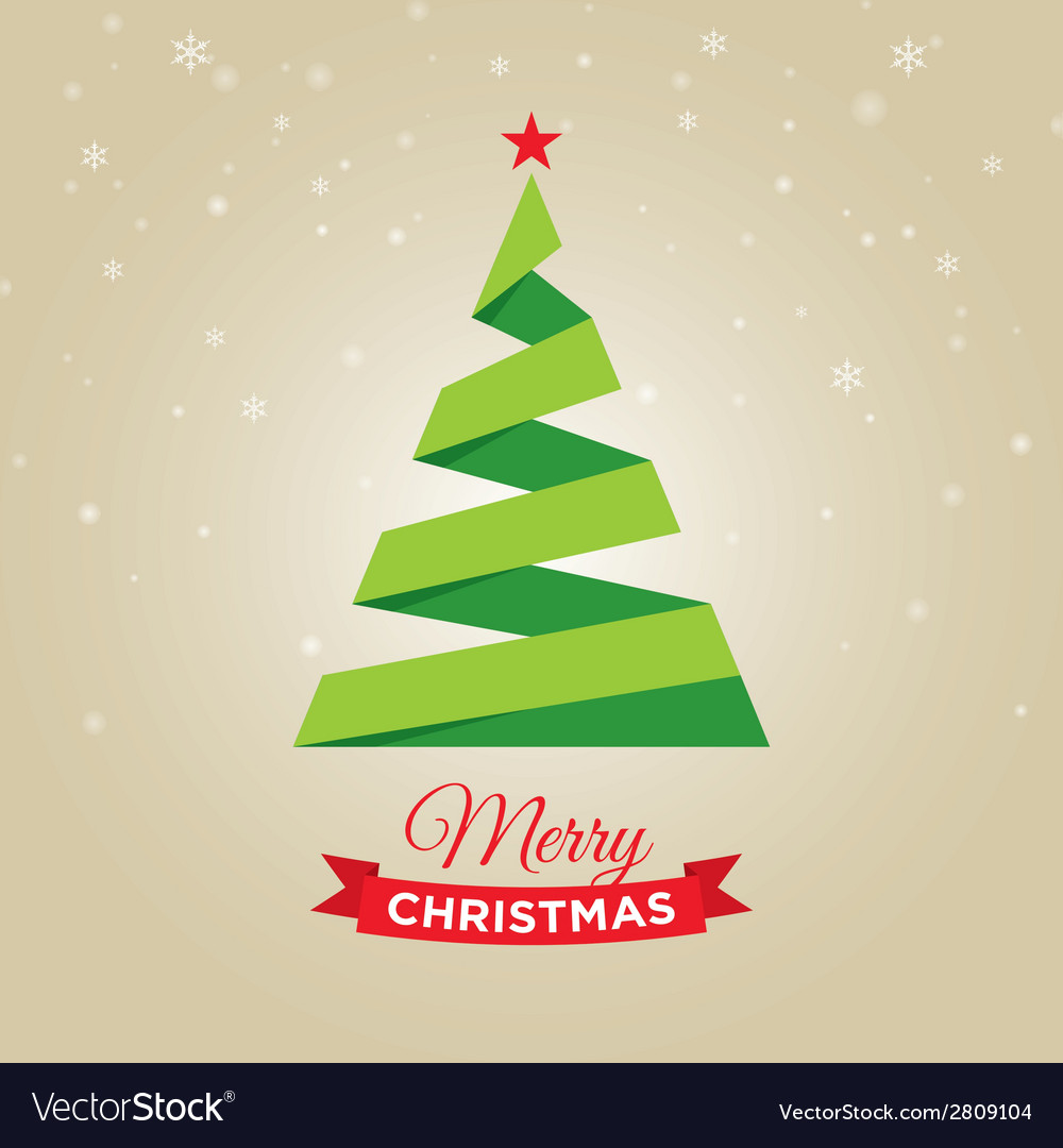 Christmas tree gold card vector | Price: 1 Credit (USD $1)