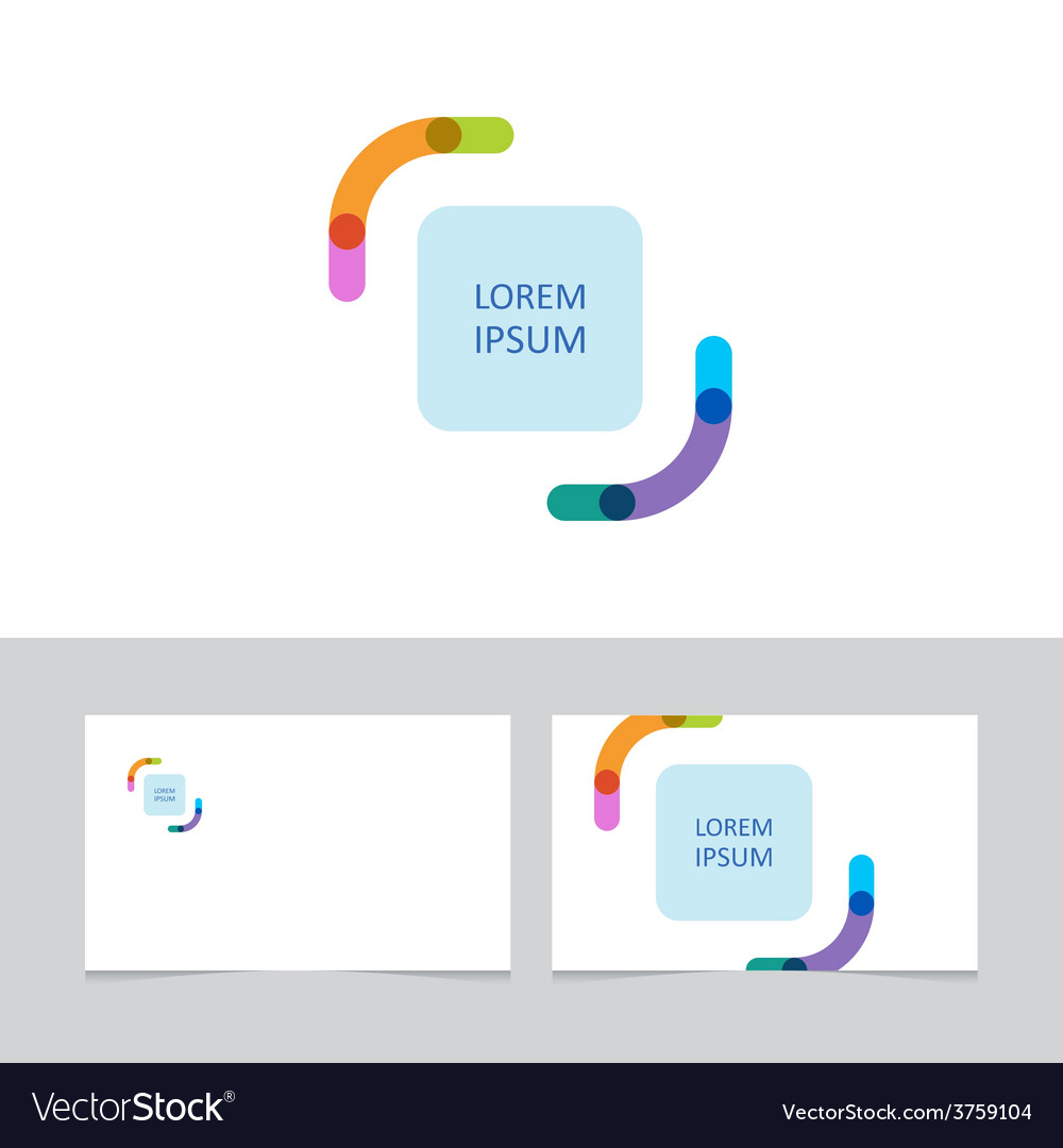 Color brackets business card template vector | Price: 1 Credit (USD $1)