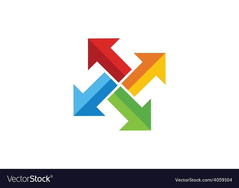 Colorful arrow dynamic circle logo vector | Price: 1 Credit (USD $1)