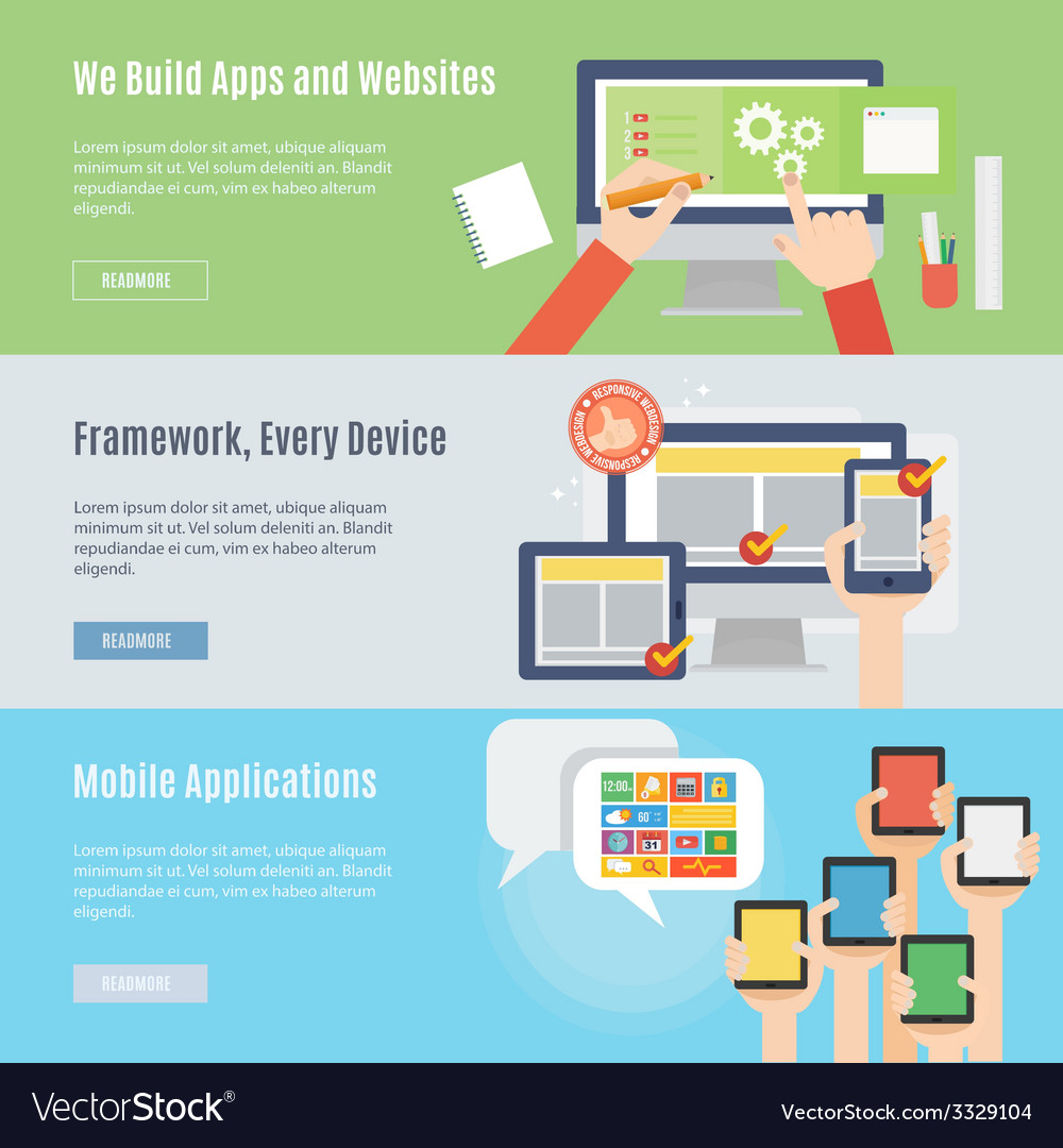 Element of website and mobile icon in flat design vector | Price: 1 Credit (USD $1)
