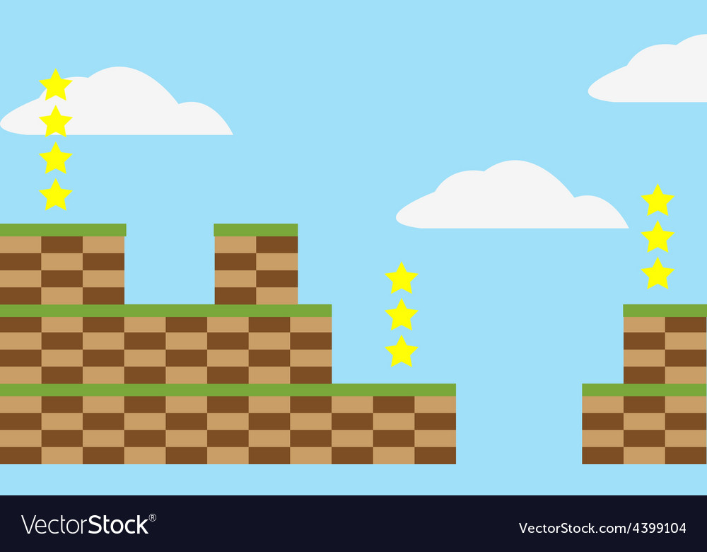 Game level background vector | Price: 3 Credit (USD $3)