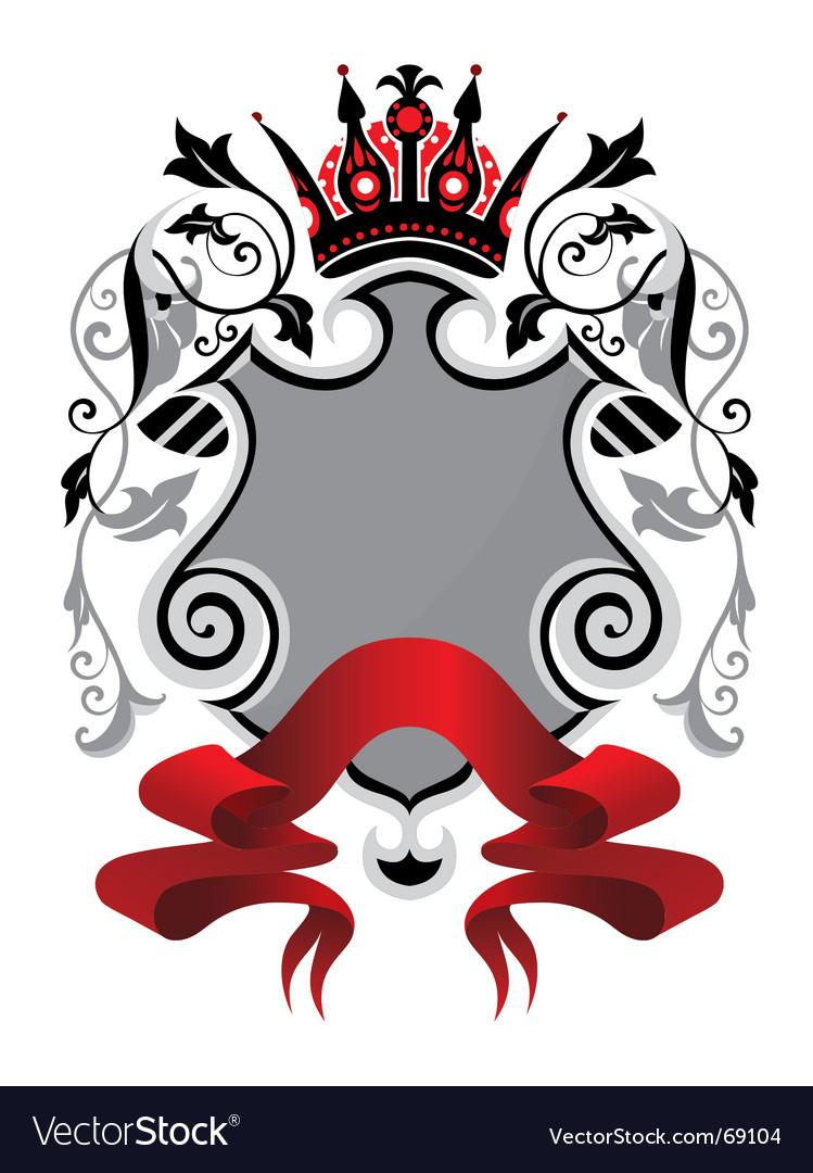 Heraldry shield vector | Price: 1 Credit (USD $1)