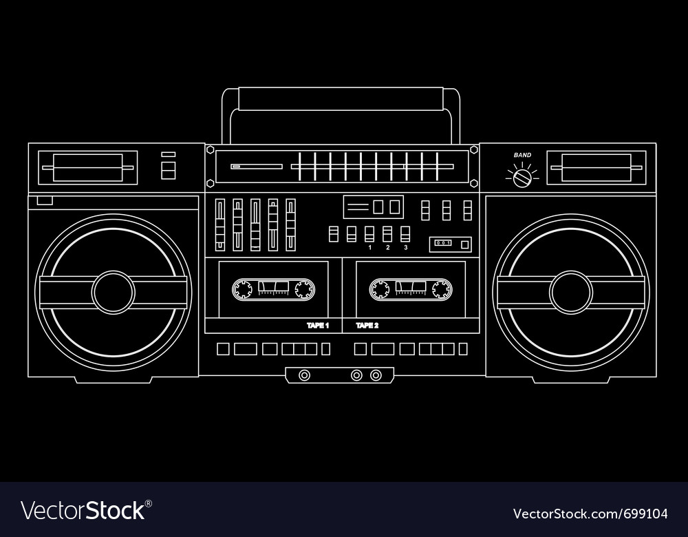 Isolated ghetto blaster vector | Price: 1 Credit (USD $1)
