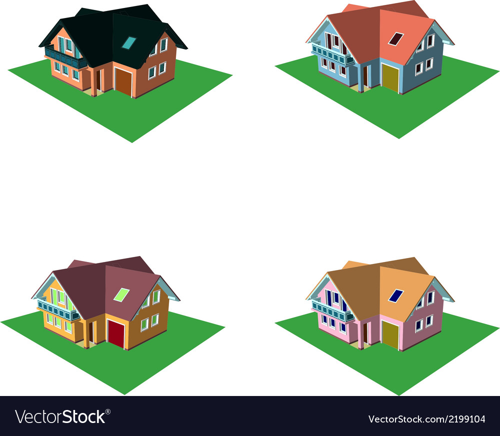 Isometric house style 6 vector | Price: 1 Credit (USD $1)