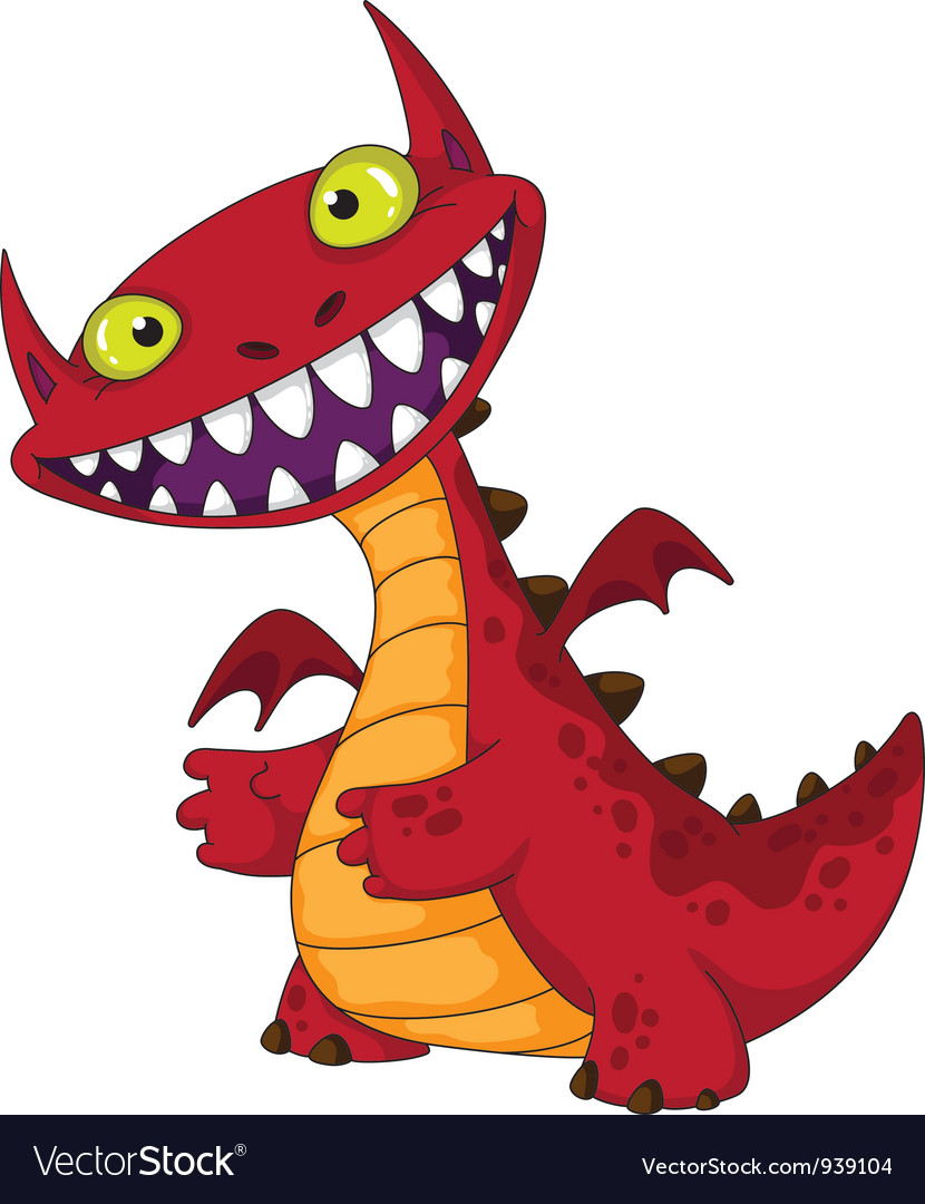 Laughing dragon vector | Price: 3 Credit (USD $3)