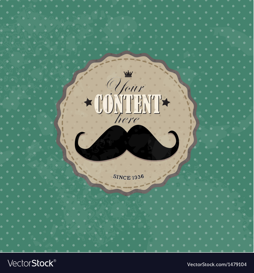 Retro label design old round retro vintage grunge vector | Price: 1 Credit (USD $1)