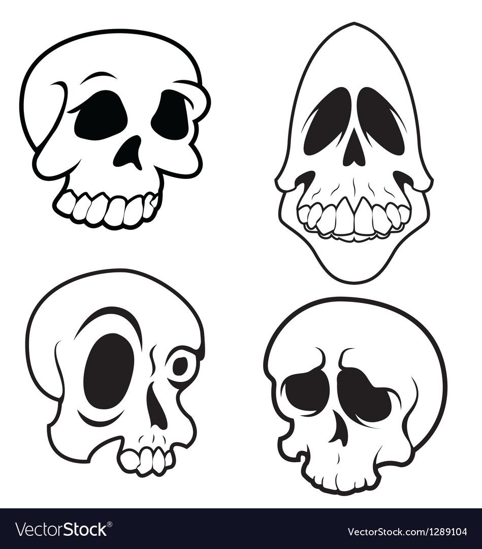 Skulls 9 vector | Price: 1 Credit (USD $1)