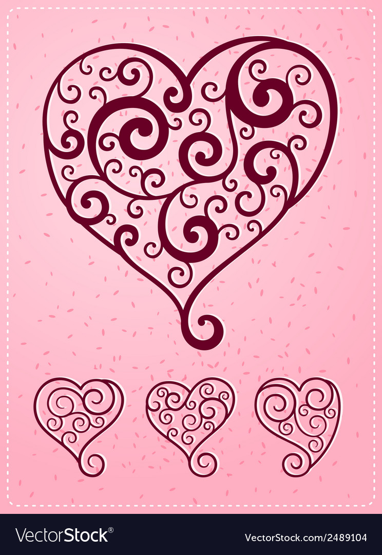 Various heart symbol vector | Price: 1 Credit (USD $1)