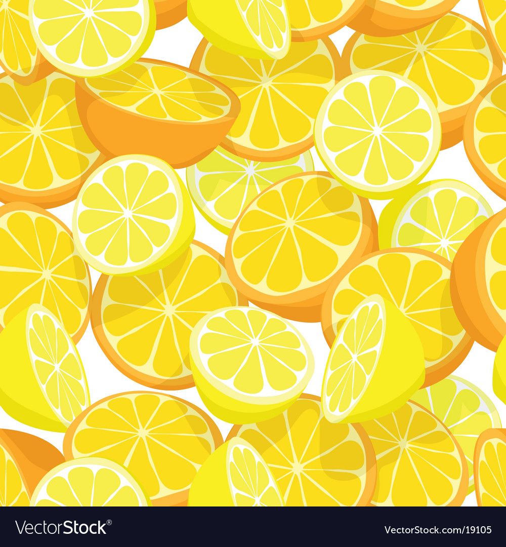 Citrus seamless tile vector | Price: 1 Credit (USD $1)