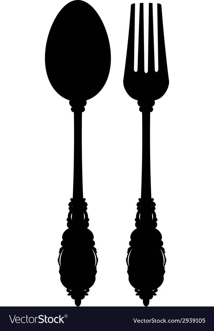 Cutlery silhouette vector | Price: 1 Credit (USD $1)