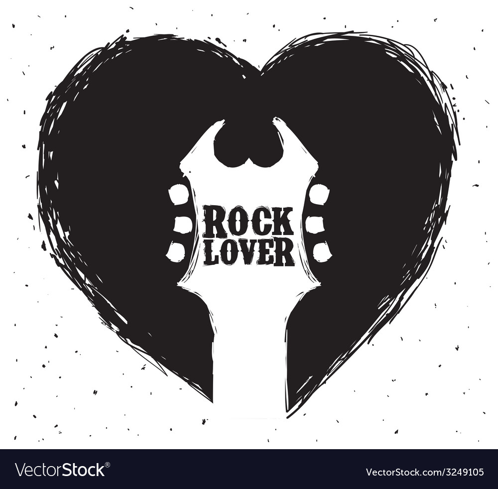 Hard rock design vector | Price: 1 Credit (USD $1)