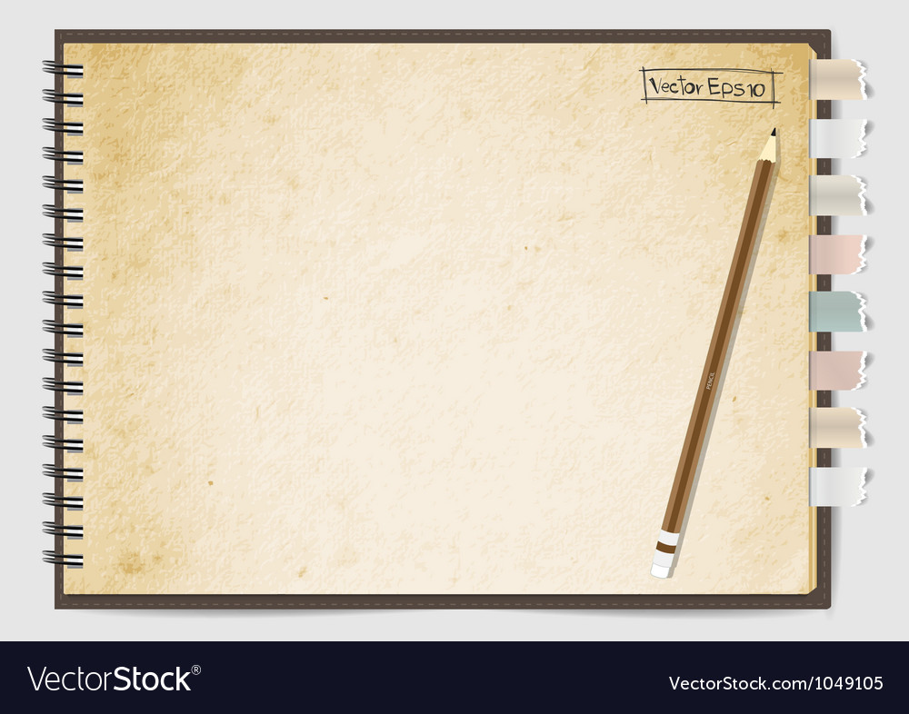 Old brown paper notebook vector | Price: 1 Credit (USD $1)