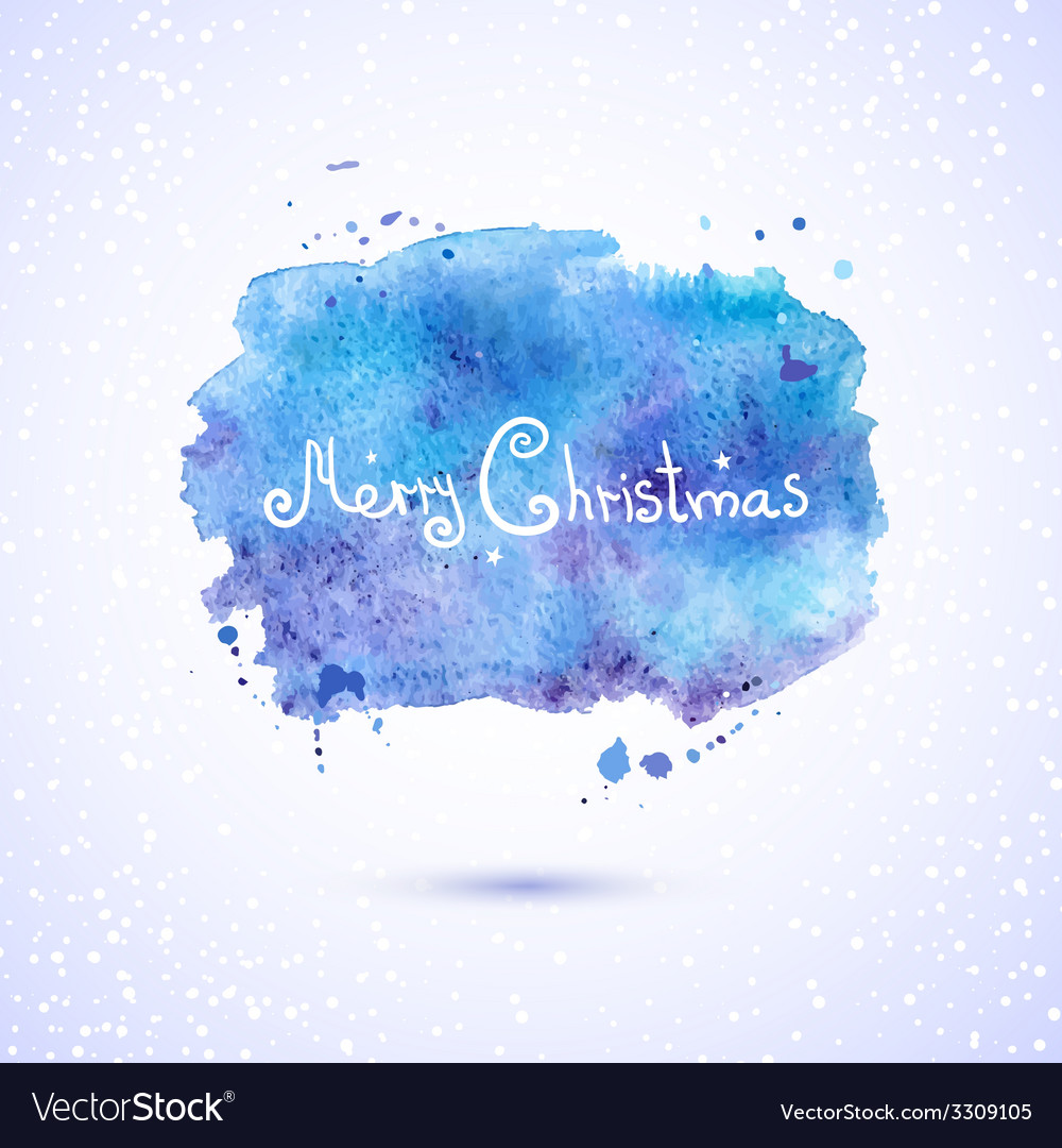 Watercolor background christmas vector | Price: 1 Credit (USD $1)