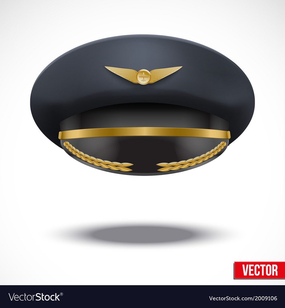 Aviator peaked cap of the pilot vector | Price: 1 Credit (USD $1)