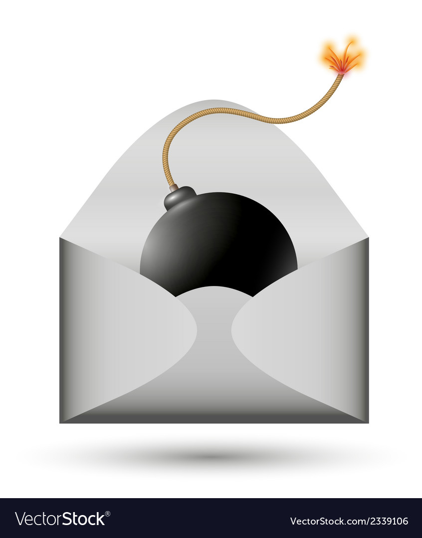 Bomb in envelope vector | Price: 1 Credit (USD $1)