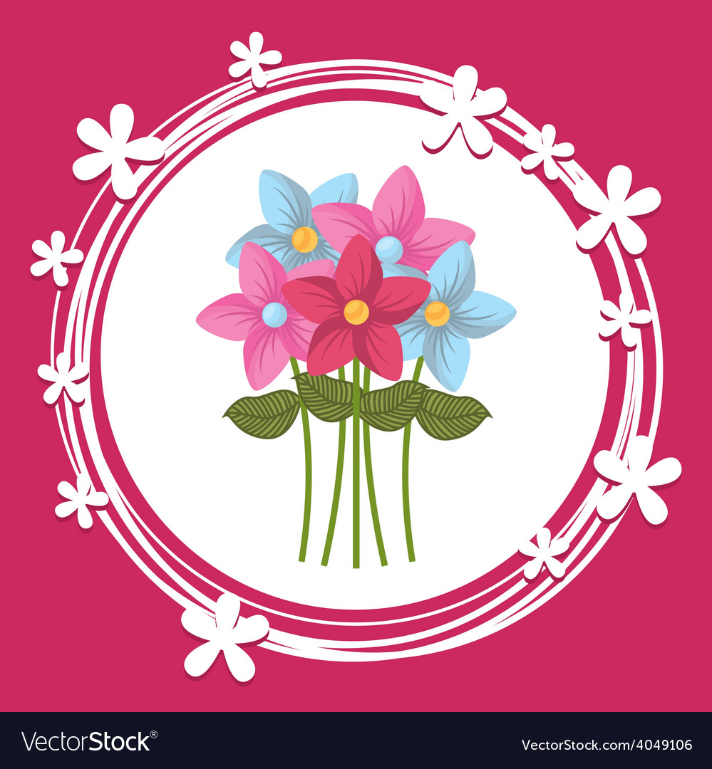 Bouquet flower vector | Price: 1 Credit (USD $1)