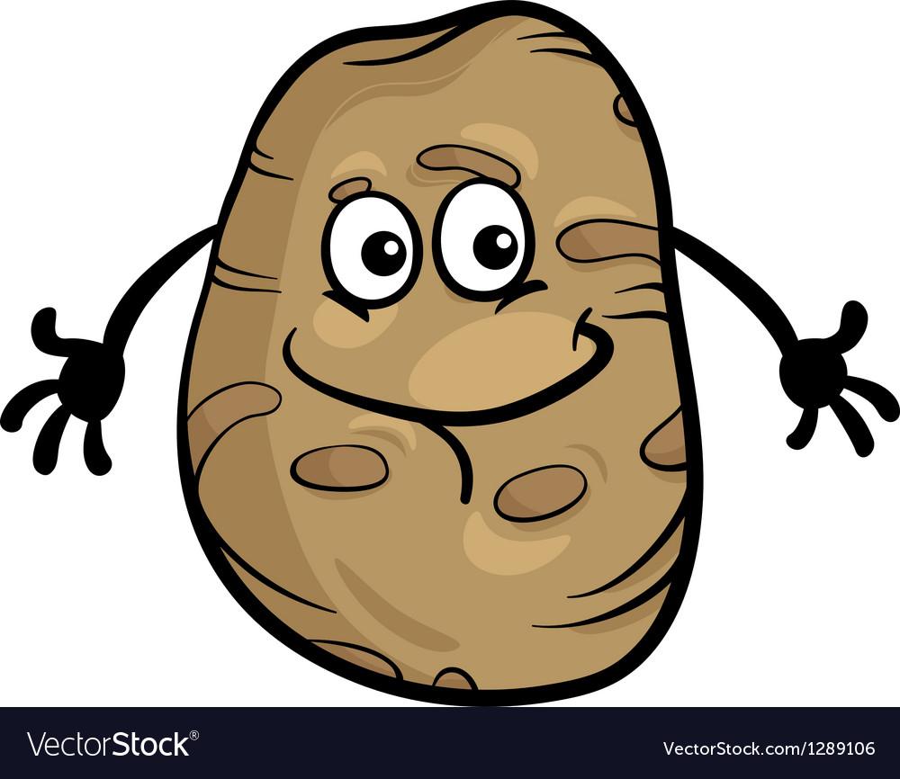 Cute potato vegetable cartoon vector | Price: 1 Credit (USD $1)