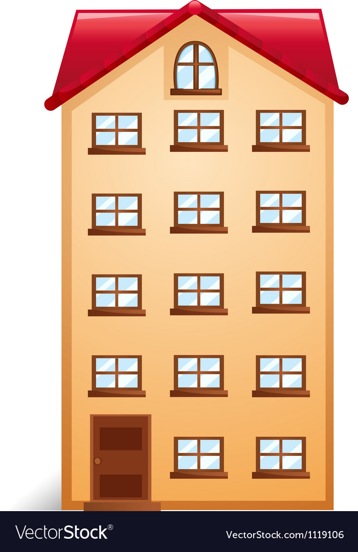 House with red roof vector | Price: 1 Credit (USD $1)