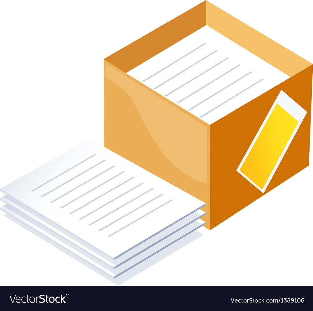 Icon paper and box vector