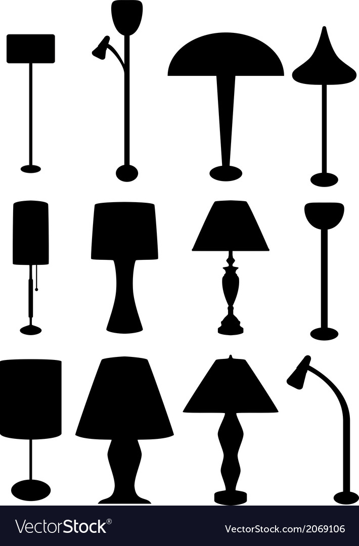 Lamp silhouette vector | Price: 1 Credit (USD $1)