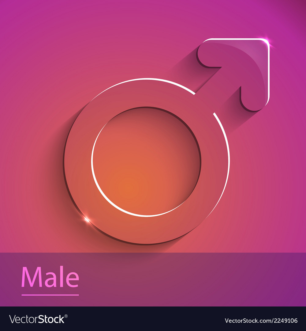 Male sign glass icon vector | Price: 1 Credit (USD $1)