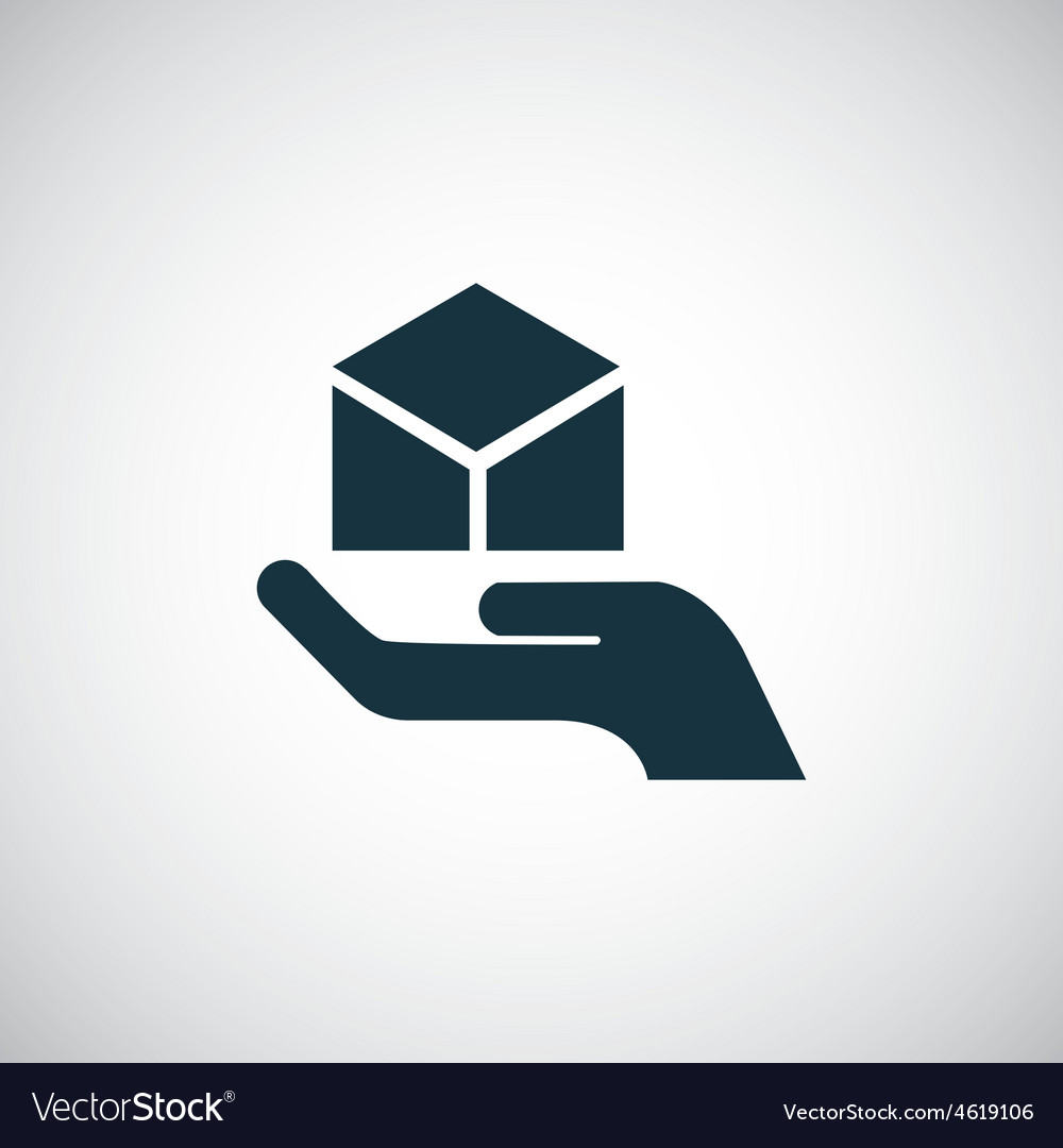 Package palm icon vector | Price: 1 Credit (USD $1)