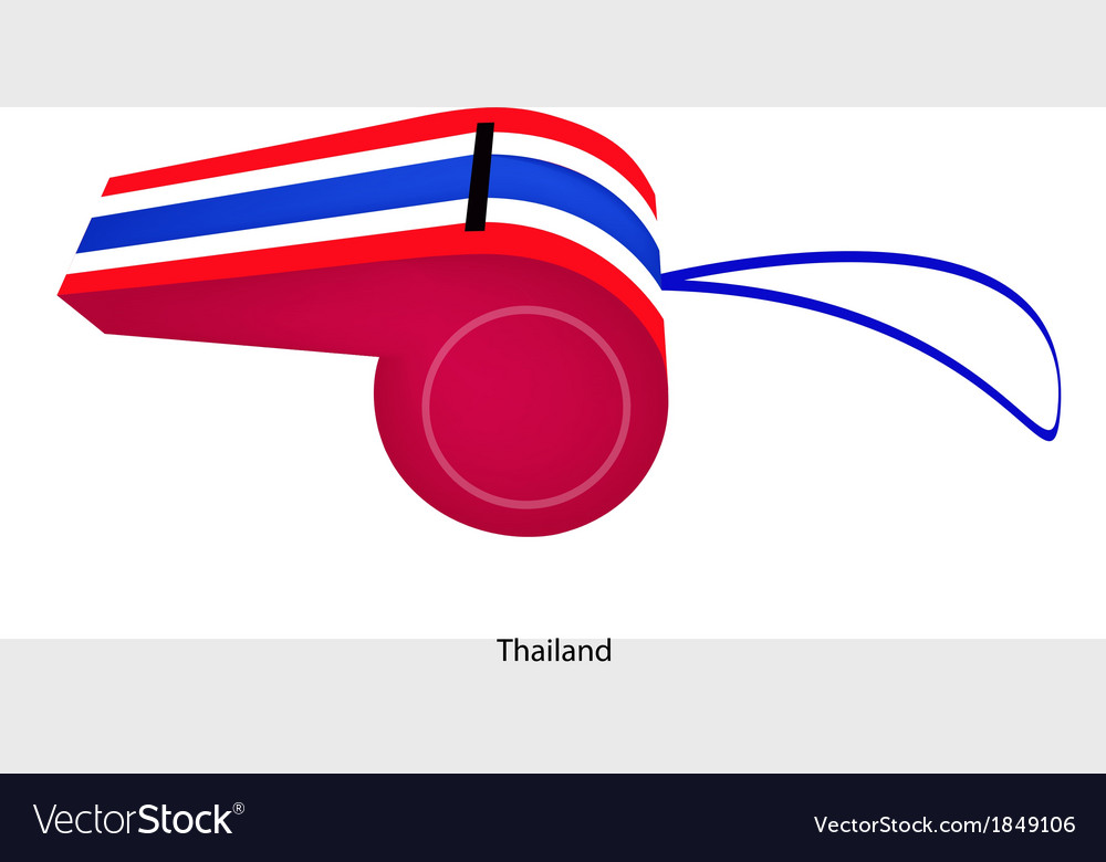 Red white and blue stripe on thai whistle vector | Price: 1 Credit (USD $1)