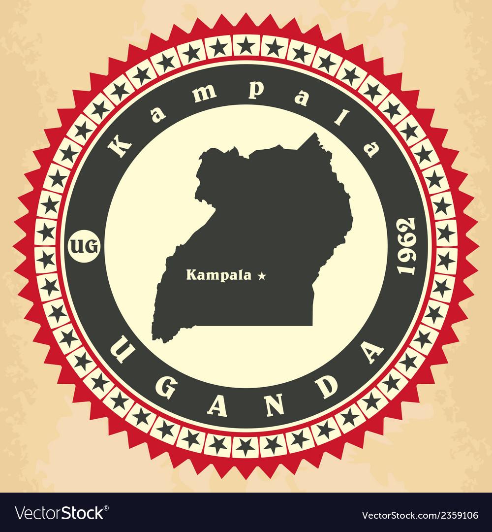 Vintage label-sticker cards of uganda vector   Price: 1 Credit (USD $1)