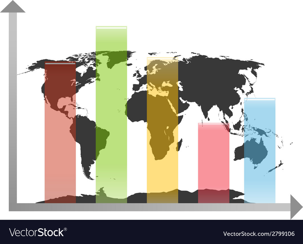 World map chart vector   Price: 1 Credit (USD $1)