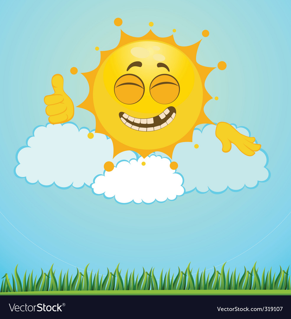 Cartoon sun vector | Price: 1 Credit (USD $1)