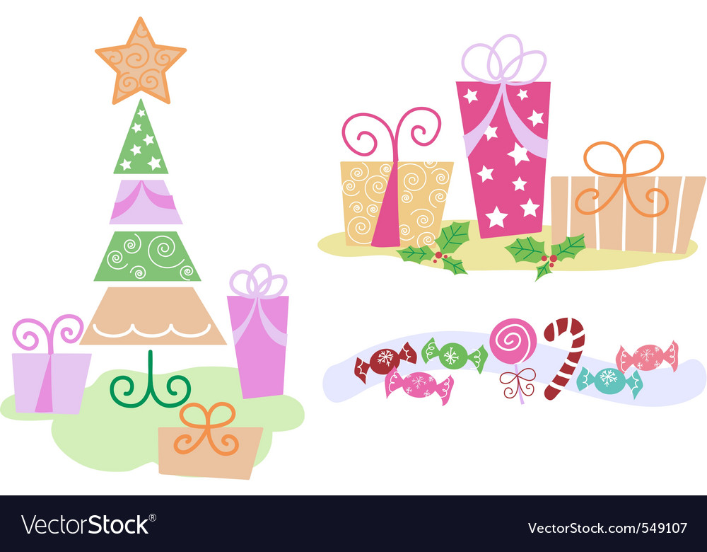 Christmas clip arts vector | Price: 1 Credit (USD $1)