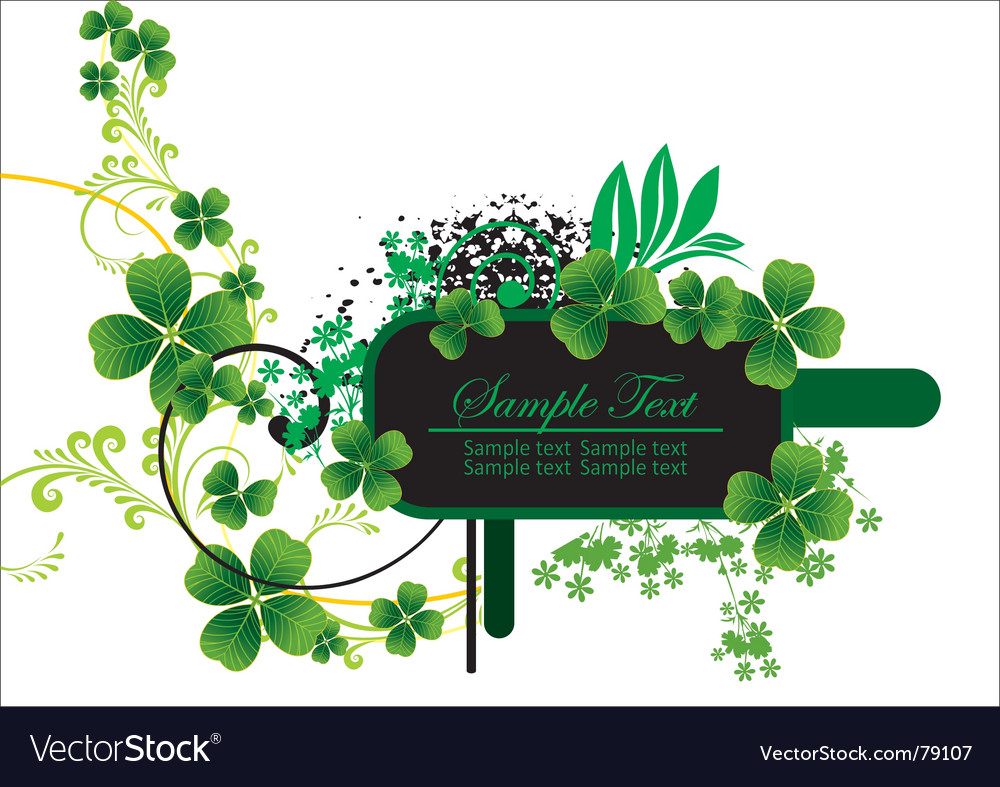 Floral label vector | Price: 1 Credit (USD $1)