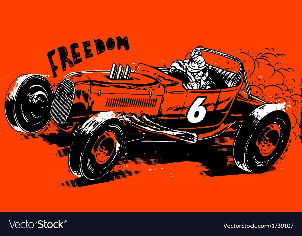 Freedom hotrod vector | Price: 1 Credit (USD $1)
