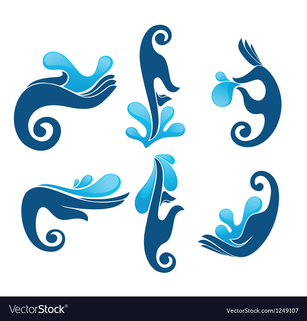 Fresh water and clean hands vector | Price: 1 Credit (USD $1)