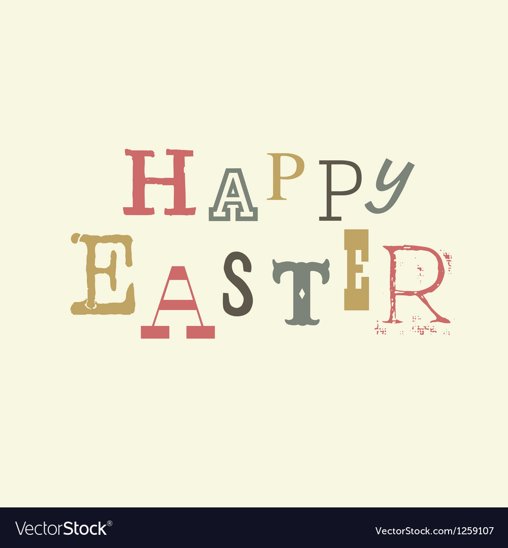 Happy easter vintage lettering vector   Price: 1 Credit (USD $1)